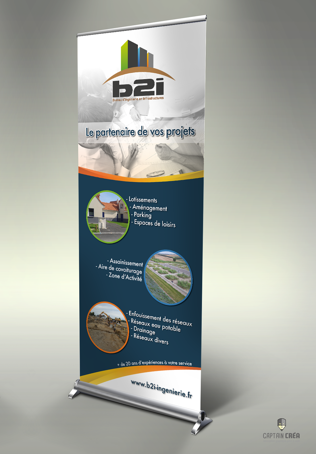 Présentation rollup B2i. site cc